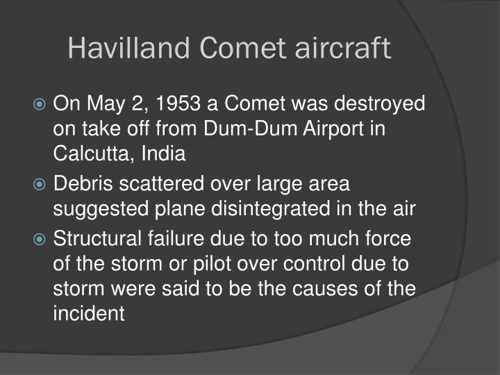 Havilland Comet aircraft