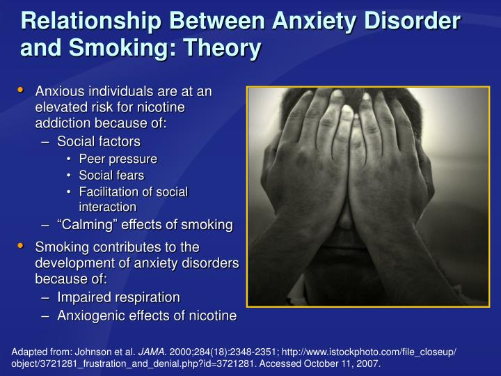 Relationship Between Anxiety Disorder and Smoking: Theory