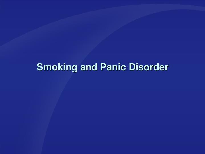 Smoking and Panic Disorder