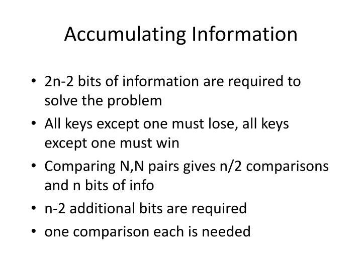 Accumulating Information