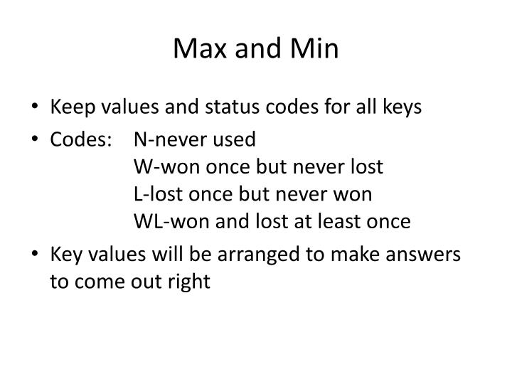 Max and Min