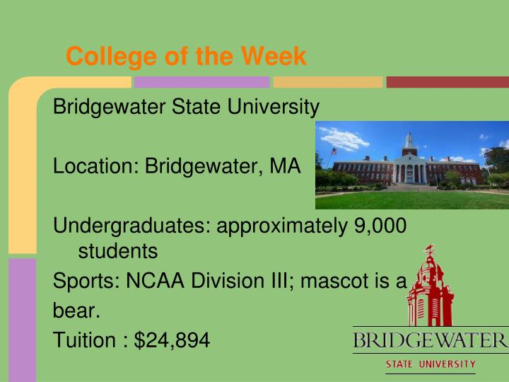 College of the Week