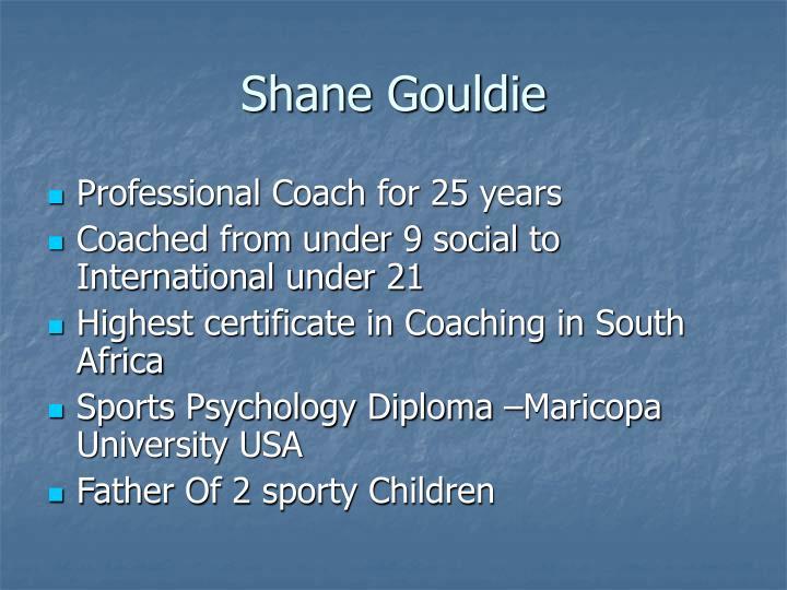 Shane Gouldie