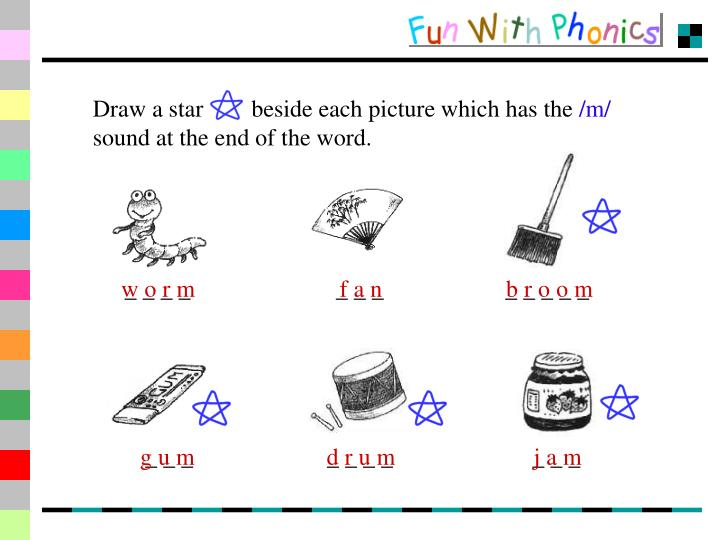 Draw a star        beside each picture which has the