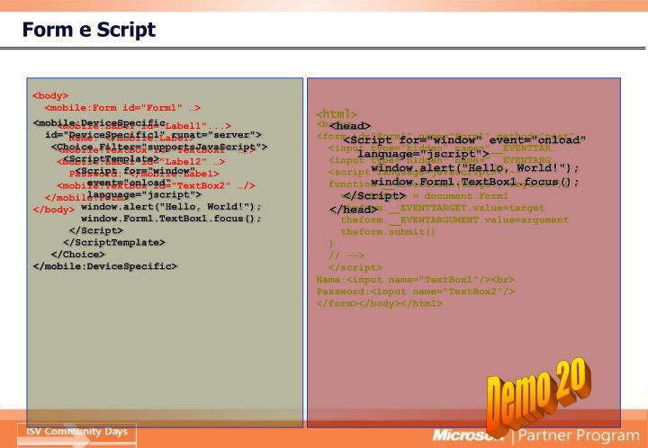 Form e Script