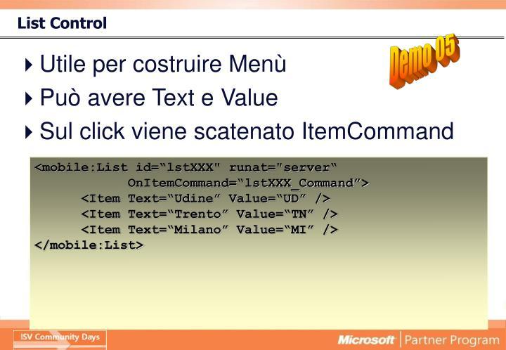 List Control