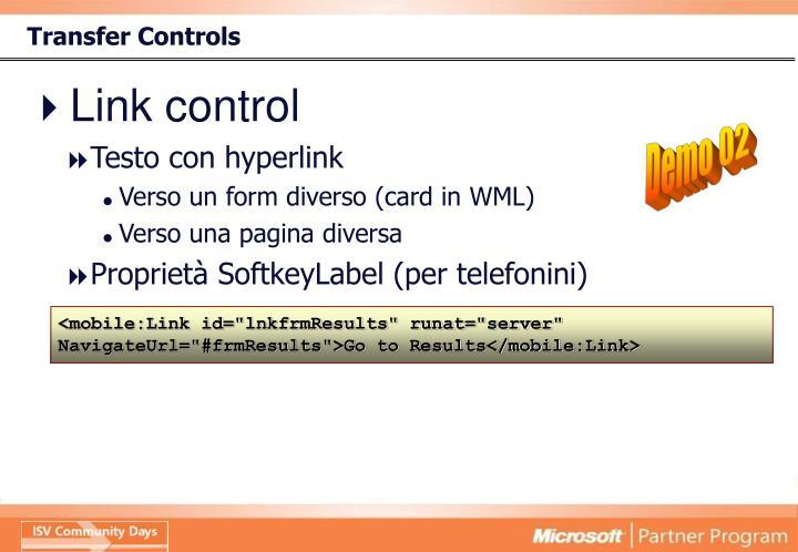 Transfer Controls