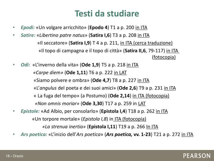 Testi da studiare