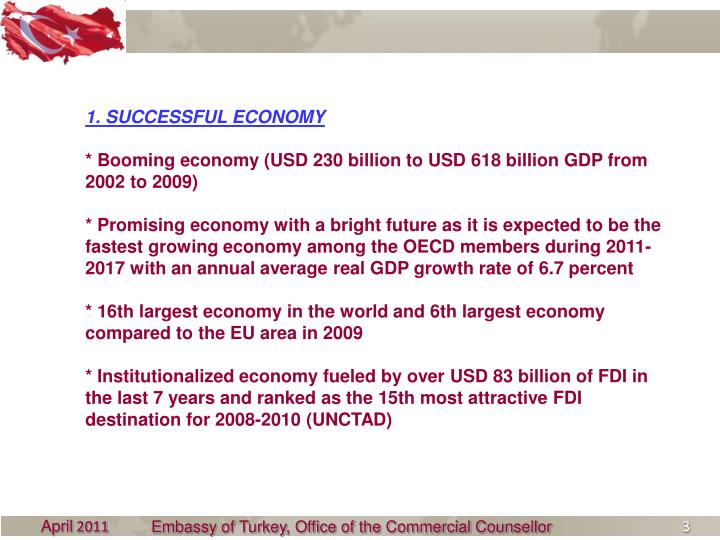 1. SUCCESSFUL ECONOMY