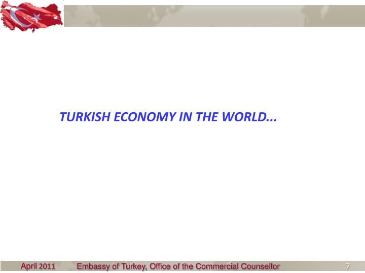TURKISH ECONOMY IN THE WORLD...