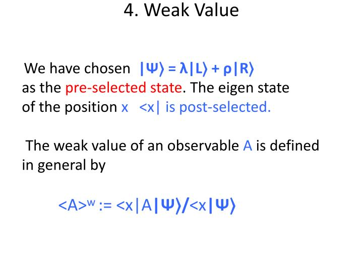 4. Weak Value