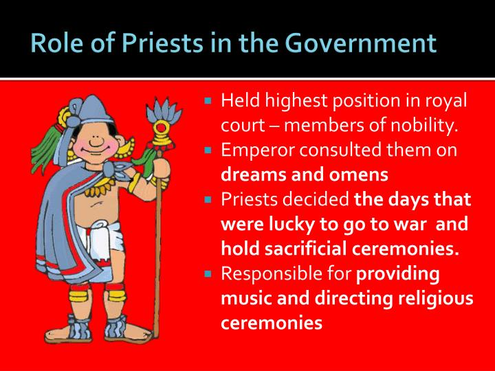 Role of Priests in the Government