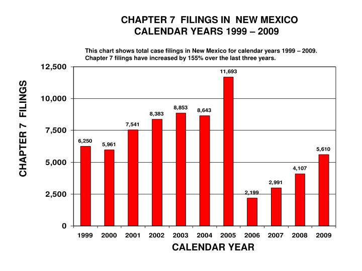CHAPTER 7  FILINGS IN  NEW MEXICO