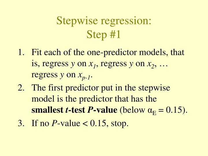 Stepwise regression: