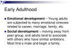 early adulthood1