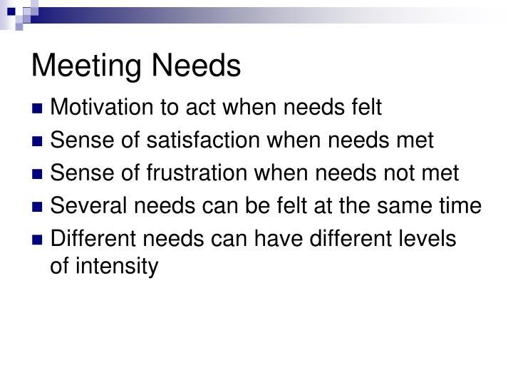 Meeting Needs