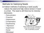 methods for satisfying needs1