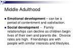 middle adulthood1