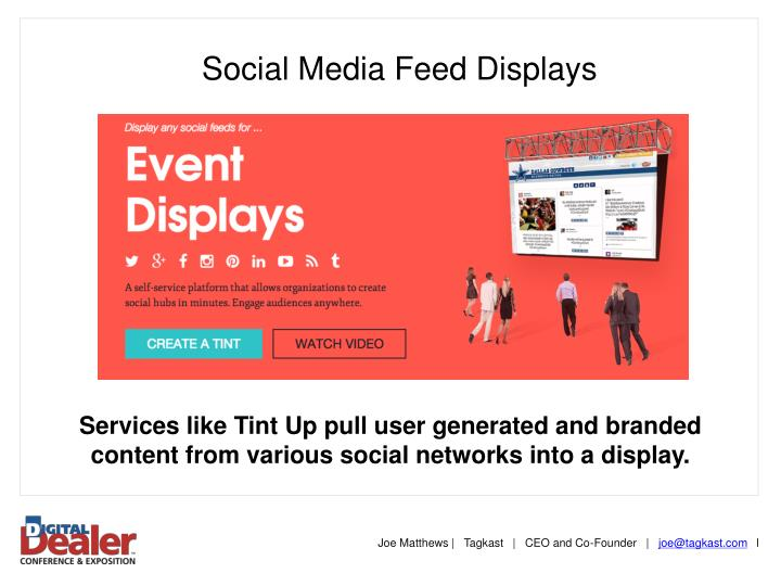Social Media Feed Displays