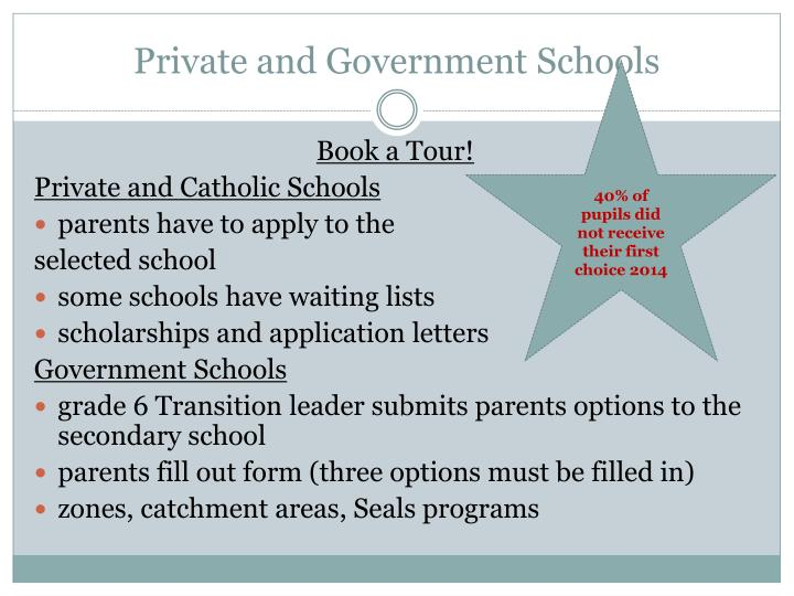 Private and Government Schools