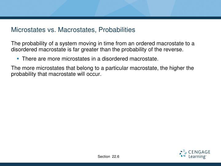 Microstates vs. Macrostates, Probabilities