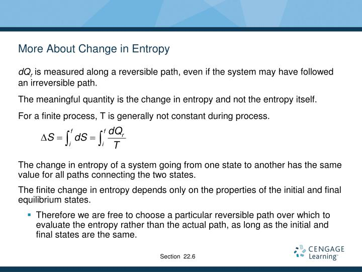More About Change in Entropy