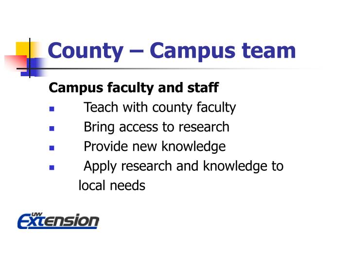 County – Campus team