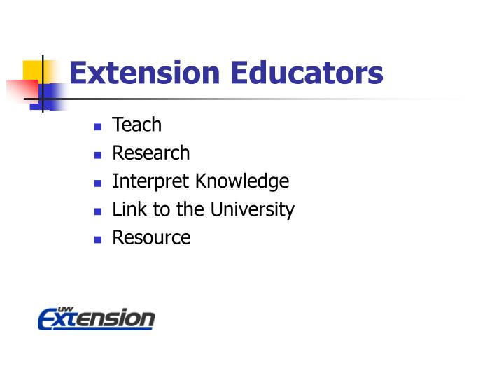Extension Educators