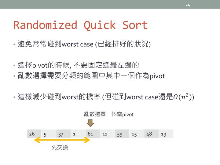Randomized Quick Sort