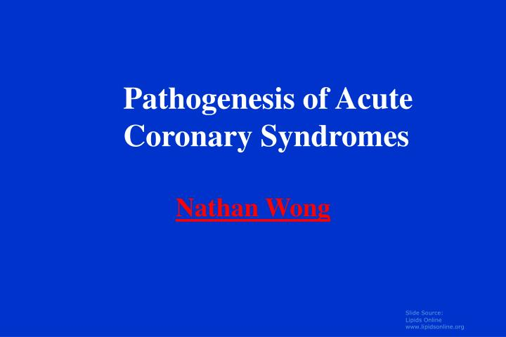 Pathogenesis of Acute