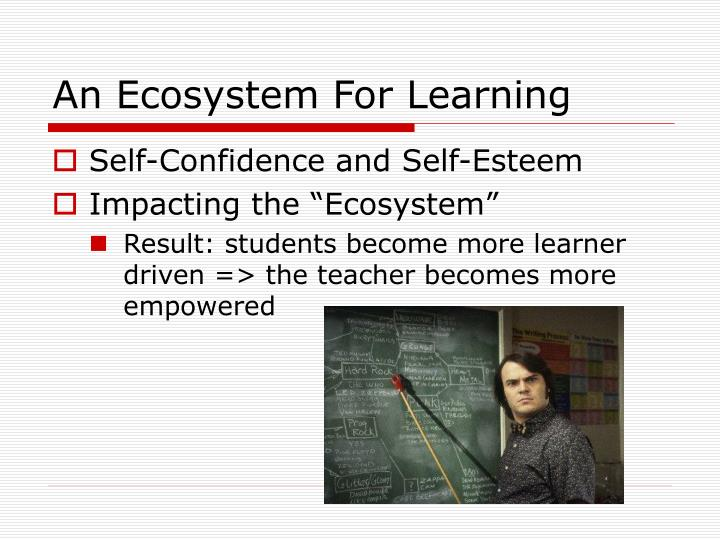 An Ecosystem For Learning