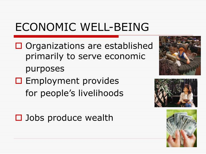 ECONOMIC WELL-BEING