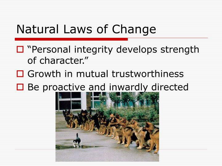 Natural Laws of Change