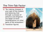 the trim tab factor