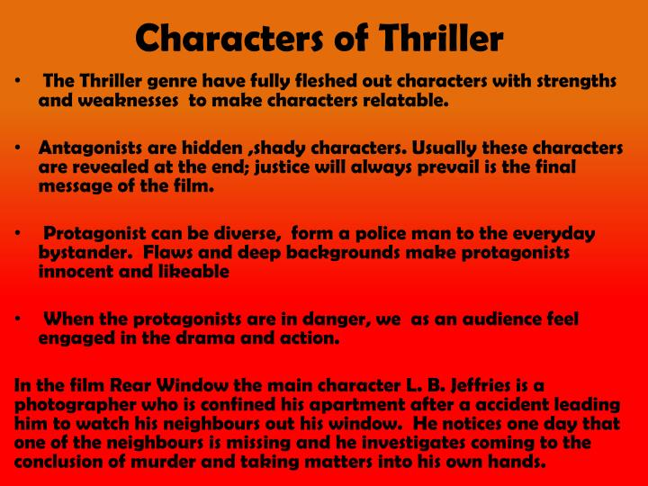 Characters of Thriller