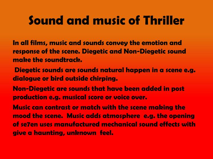 Sound and music of Thriller
