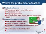 what s the problem for a teacher
