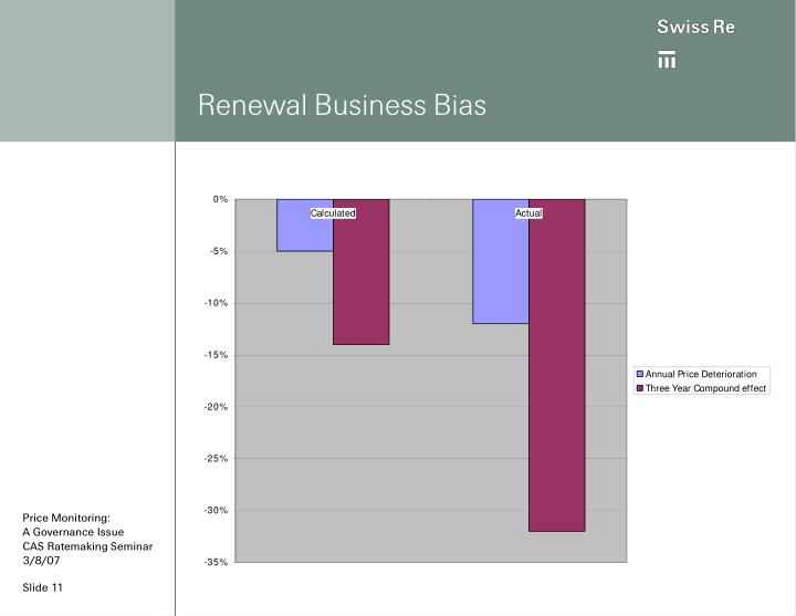 Renewal Business Bias