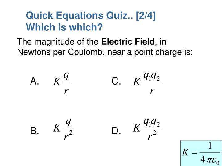 Quick Equations Quiz.. [2/4]