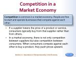 competition in a market economy