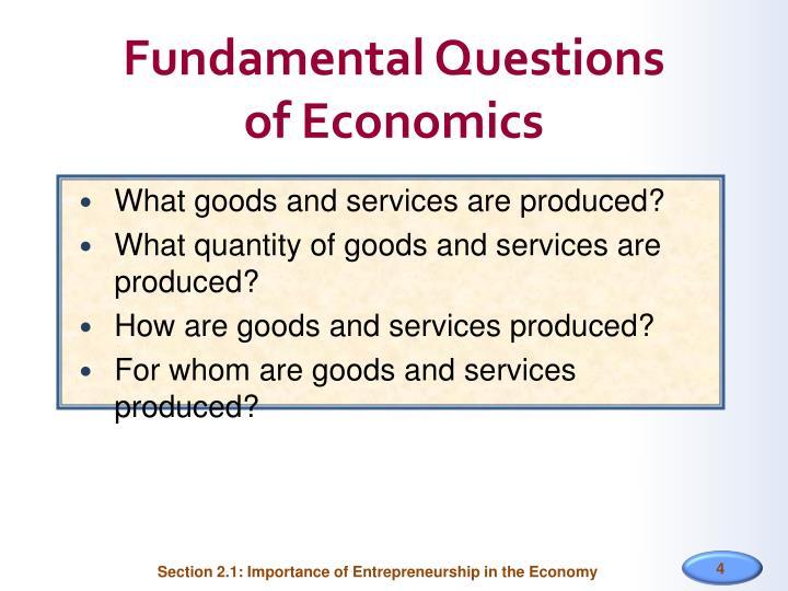Fundamental Questions