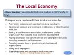the local economy