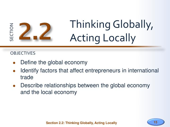 Thinking Globally,