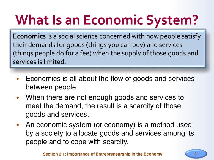 What Is an Economic System?