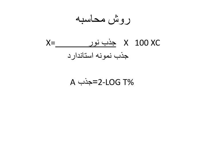 روش محاسبه