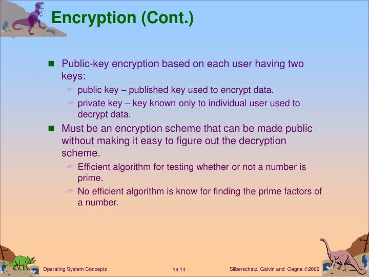 Encryption (Cont.)