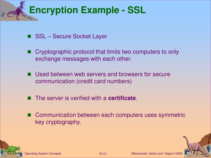 Encryption Example - SSL