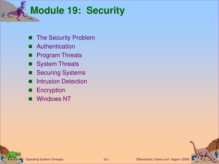Module 19 security