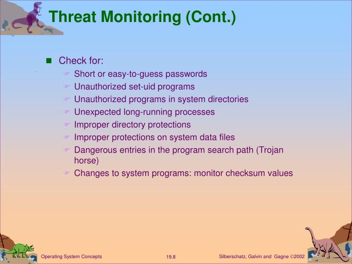 Threat Monitoring (Cont.)