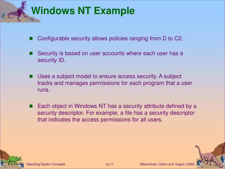 Windows NT Example